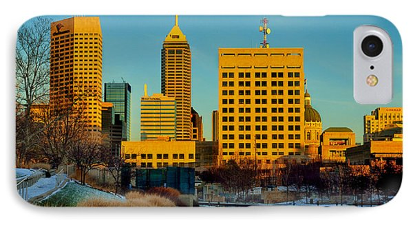 Indianapolis Skyline Dynamic Phone Case by David Haskett