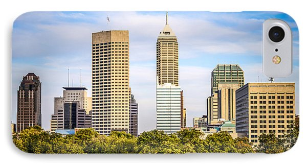 Indianapolis Skyline Picture Phone Case by Paul Velgos