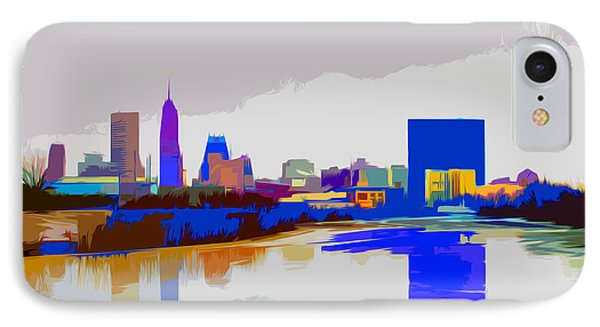 Indianapolis Indiana Winter Paint IPhone Case by David Haskett