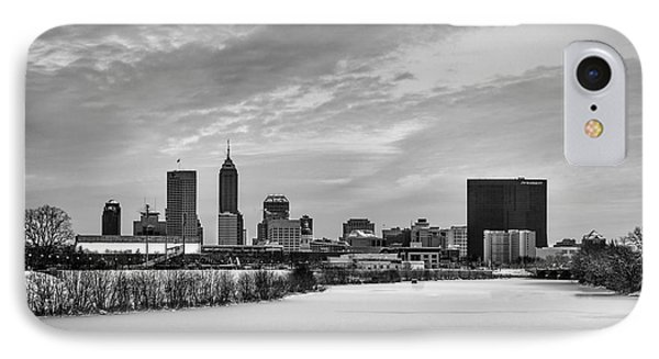 Indianapolis Winters Tale Black And White 2014 IPhone Case by David Haskett