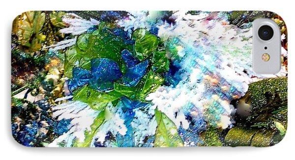 Indigo Blue Green Festive Holiday IPhone Case by Janine Riley