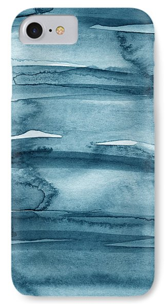 Indigo Water- Abstract Painting Phone Case by Linda Woods