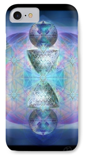 IPhone Case featuring the digital art Indigoaurad Chalice Orbing Intwined Hearts by Christopher Pringer