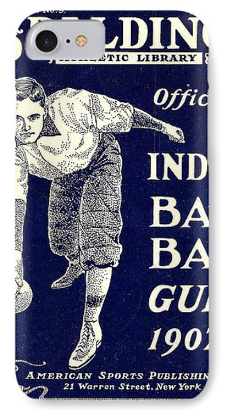 Indoor Base Ball Guide 1907 Phone Case by American Sports Publishing