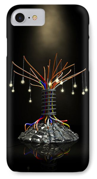 Industrial Future Tree IPhone Case by Allan Swart