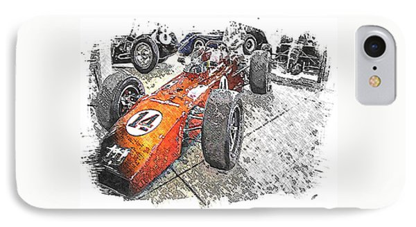Indy Race Car 4 IPhone Case by Spencer McKain