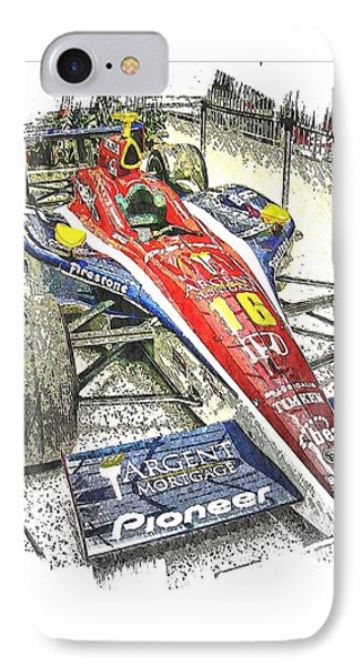 Indy Race Car 7 IPhone Case by Spencer McKain