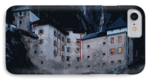 Infamous Jim-jam Predjama Castle IPhone Case by Graham Hawcroft pixsellpix