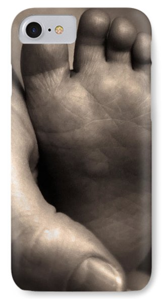 IPhone Case featuring the digital art Infants Foot by Bruce Rolff