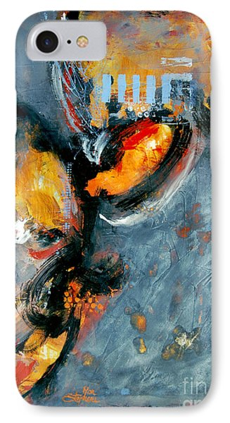 IPhone Case featuring the painting Inferno by Ron Stephens