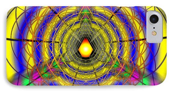 IPhone Case featuring the drawing Infinity Gateway Nine by Derek Gedney