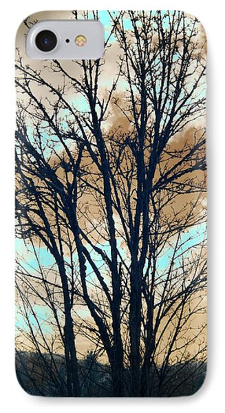 IPhone Case featuring the photograph Infrared Split Second Sun Couds by Rebecca Parker
