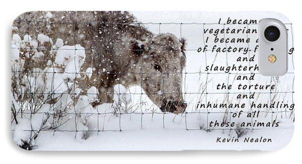 Inhumane Torture Of Animals Phone Case by Janice Rae Pariza