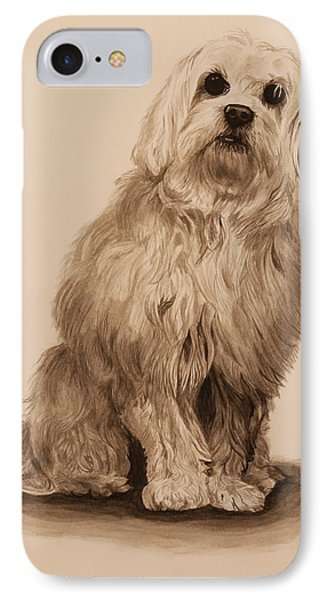 Ink Dog Phone Case by Michelle Miron-Rebbe