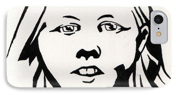 Ink Portrait IPhone Case by Samantha Geernaert
