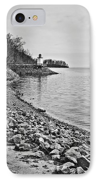 Inlet Lighthouse 3 In B/w IPhone Case by Greg Jackson