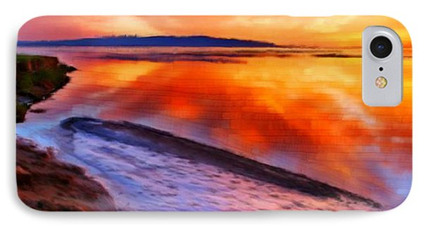 IPhone Case featuring the painting Inlet Sunset by Bruce Nutting