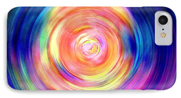 Inner Glow Abstract Art IPhone Case by Annie Zeno