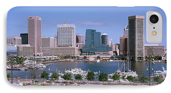 Inner Harbor Skyline Baltimore Md Usa IPhone Case by Panoramic Images