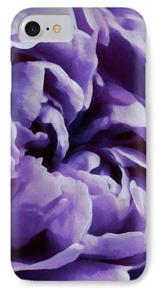 Lavender Motive IPhone Case by Jean OKeeffe Macro Abundance Art