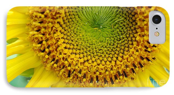 Inner Peace Forms Within This Sweet Yellow Sunflower Phone Case by Eunice Miller