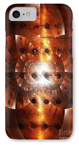 Inner Strength - Abstract Art IPhone Case by Carol Groenen