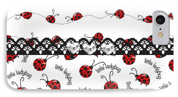 Innocent Ladybugs  IPhone 7 Case by Debra  Miller