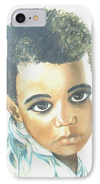 IPhone Case featuring the painting Innocent Sorrow by Sophia Schmierer