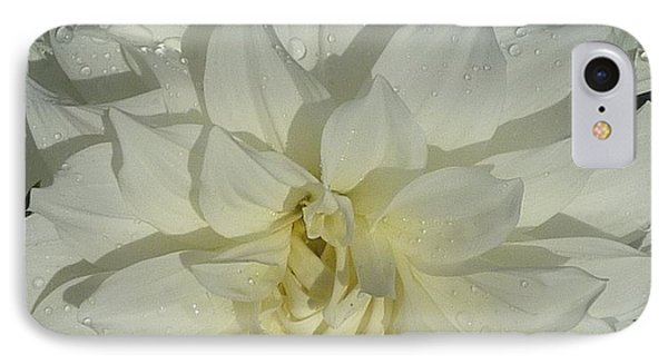 IPhone Case featuring the photograph Innocent White Dahlia  by Susan Garren