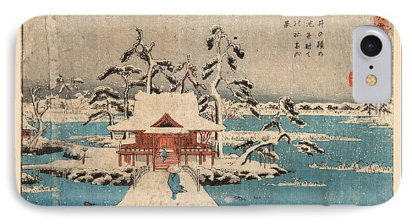 Inokashira No Ike Benzaiten No Yashiro IPhone Case by Utagawa Hiroshige Also And? Hiroshige (1797-1858), Japanese