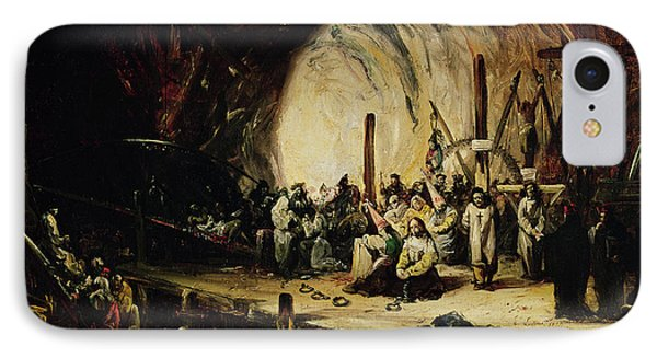 Inquisition Scene, 1851 Oil On Canvas IPhone Case by Eugenio Lucas y Padilla
