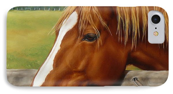 IPhone Case featuring the painting Inquisitive by Margaret Stockdale