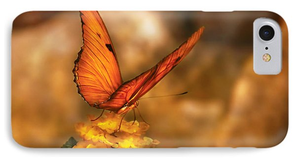 Insect - Butterfly - Just A Bit Of Orange  IPhone Case by Mike Savad
