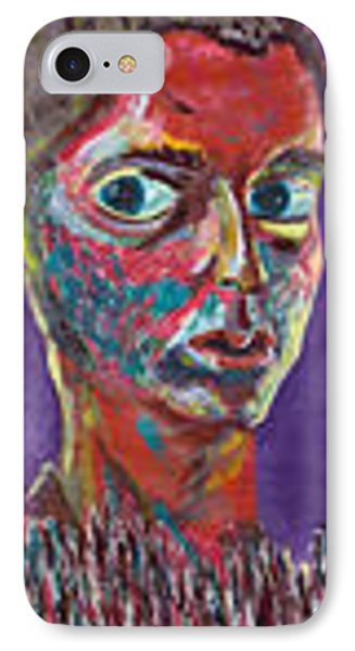 IPhone Case featuring the painting Insecure by Artists With Autism Inc