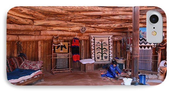 Inside A Navajo Home IPhone Case by Diane Bohna