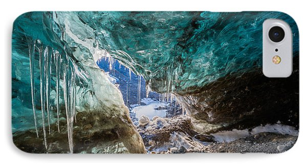 Inside Glacial Ice Cave IPhone Case by Panoramic Images