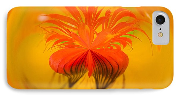 Inside Out Nasturtium Phone Case by Anne Gilbert