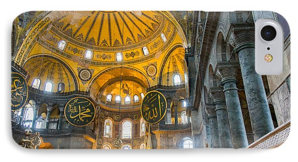 Inside The Hagia Sophia Istanbul IPhone Case by For Ninety One Days