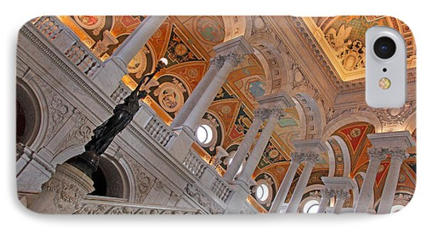 Inside The Library Of Congress IPhone Case by Cora Wandel