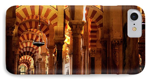 IPhone Case featuring the photograph Inside The Mezquita by Lorraine Devon Wilke