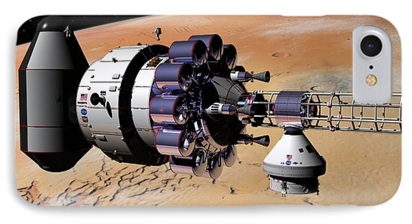 IPhone Case featuring the digital art Inspection Over Mars by David Robinson
