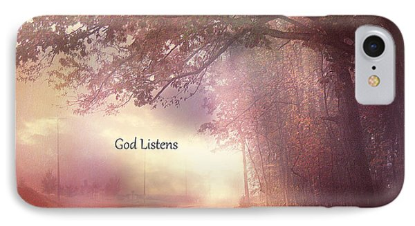 Inspirational Nature Landscape - God Listens - Dreamy Ethereal Spiritual And Religious Nature Photo IPhone Case by Kathy Fornal