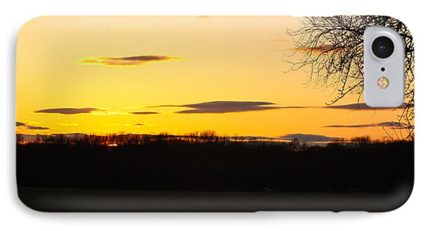IPhone Case featuring the photograph Inspirational Sunset  by Ann Murphy