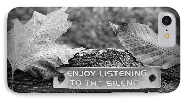 Inspirational Words To Live By In Black And White IPhone Case by Paul Ward