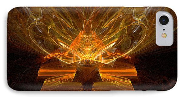 IPhone Case featuring the digital art Inspirations Light by R Thomas Brass