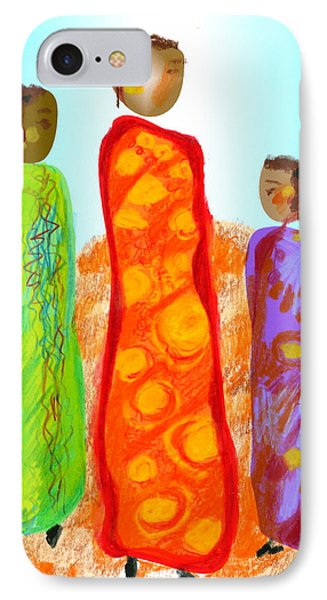 IPhone Case featuring the digital art Inspired By Gerty by Mary Armstrong