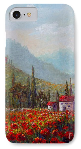 Inspired By Tuscany IPhone Case by Lou Ann Bagnall