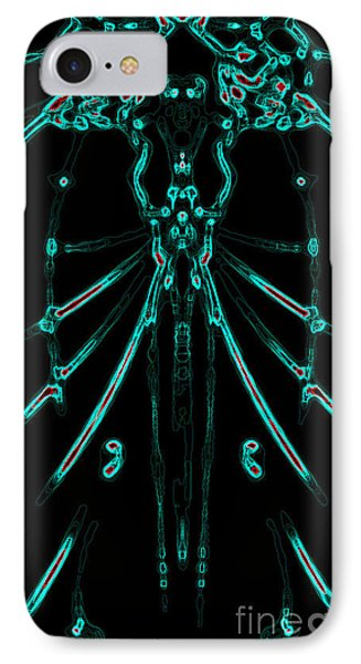 IPhone Case featuring the digital art Instinct Color Variation 1 by Devin  Cogger