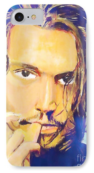 IPhone Case featuring the painting Intense  by Judy Kay