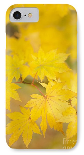 Intensely Yellow Phone Case by Anne Gilbert